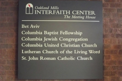 Congregational sign, Oakland Mills Interfaith Center