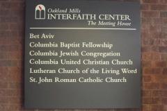 Congregational sign, Oakland Mills Interfaith Center