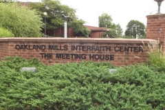Exterior sign, Oakland Mills Interfaith Center