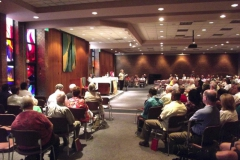 Congregation at Mass at OMI