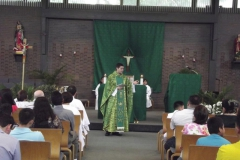 Padre Leando, Mass in Room 4 at WLIFC
