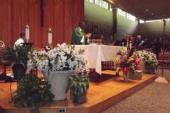 Fr. Ferdinand at Mass in Room 1, WLIFC