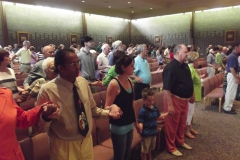 Congregation at Mass in Room 1, WLIFC
