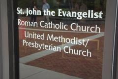 Congregations sign on WLIFC window